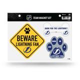 Tampa Bay Lightning Pet Dog Magnet Set Beware Fan