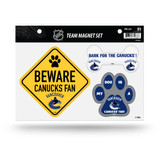 Vancouver Canucks Pet Dog Magnet Set Beware Fan
