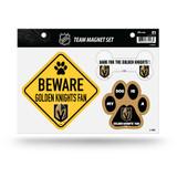 Vegas Golden Knights Pet Dog Magnet Set Beware Fan