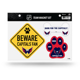 Washington Capitals Pet Dog Magnet Set Beware Fan
