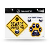 Buffalo Sabres Pet Dog Magnet Set Beware Fan