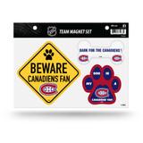Montreal Canadiens Pet Dog Magnet Set Beware Fan