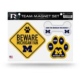 Michigan Wolverines Pet Dog Magnet Set Beware Fan