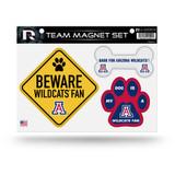 Arizona Wildcats Pet Dog Magnet Set Beware Fan