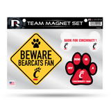Cincinnati Bearcats Pet Dog Magnet Set Beware Fan