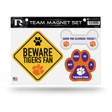 Clemson Tigers Pet Dog Magnet Set Beware Fan
