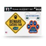 Florida Gators Pet Dog Magnet Set Beware Fan