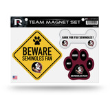 Florida State Seminoles Pet Dog Magnet Set Beware Fan