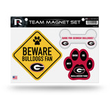 Georgia Bulldogs Pet Dog Magnet Set Beware Fan