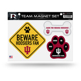 Indiana Hoosiers Pet Dog Magnet Set Beware Fan