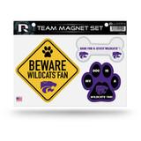Kansas State Wildcats Pet Dog Magnet Set Beware Fan