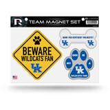 Kentucky Wildcats Pet Dog Magnet Set Beware Fan