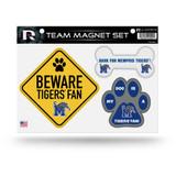 Memphis Tigers Pet Dog Magnet Set Beware Fan