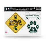 Michigan State Spartans Pet Dog Magnet Set Beware Fan