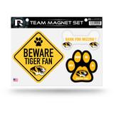 Missouri Tigers Pet Dog Magnet Set Beware Fan