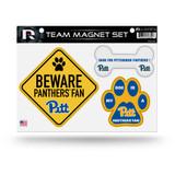 Pitt Panthers Pet Dog Magnet Set Beware Fan