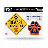 Syracuse Orange Pet Dog Magnet Set Beware Fan