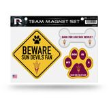 Arizona State Sun Devils Pet Dog Magnet Set Beware Fan