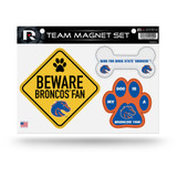 Boise State Broncos Pet Dog Magnet Set Beware Fan