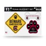South Carolina Gamecocks Pet Dog Magnet Set Beware Fan