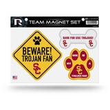 USC Trojans Pet Dog Magnet Set Beware Fan
