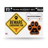 Texas Longhorns Pet Dog Magnet Set Beware Fan