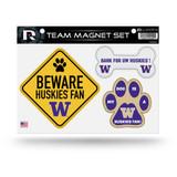 Washington Huskies Pet Dog Magnet Set Beware Fan