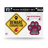 Washington State Cougars Pet Dog Magnet Set Beware Fan