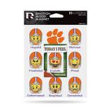 Clemson Tigers Emoji Emotion Mood Magnet Set w/ Movable Today Frame