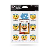 North Carolina Tar Heels Emoji Emotion Mood Magnet Set w/ Movable Today Frame
