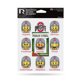 Ohio State Buckeyes Emoji Emotion Mood Magnet Set w/ Movable Today Frame