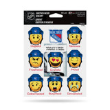 New York Rangers Emoji Emotion Mood Magnet Set w/ Movable Today Frame