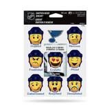 St. Louis Blues Emoji Emotion Mood Magnet Set w/ Movable Today Frame