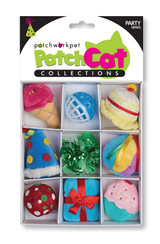 Birthday Party Theme Box Cat Toy 9pc Set Premium Catnip
