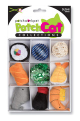 Sushi Fish Theme Box Cat Toy 9pc Set Premium Catnip