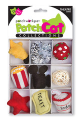 Movie Theater Theme Box Cat Toy 9pc Set Premium Catnip Popcorn Soda