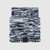 Premium Dog Cat Snood Soft Chenille Knit Scarf Black/Grey