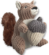 Merle The Squirrel Premium Dog Toy Plush Detachable 2 In 1