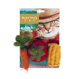 Natural Veggies Cat Toy 3pk Non-Toxic Wool