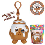 Scented Cinnamon Bun Backpack Clip Howie Rolls Whiffer Squisher