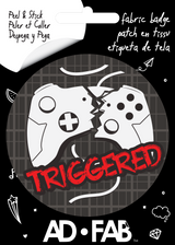 Triggered Controller Fabric Badge Video Gamer Sticker