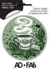 Tea Lover Ad Fab Badge Adhesive Fabric Sticker