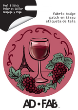 Wine Lover Ad Fab Badge Adhesive Fabric Sticker