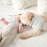 The Dog Did It Baby Bib Dog Bandana Set Premium Cotton
