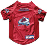 Colorado Avalanche Dog Deluxe Stretch Jersey Big Dog Size