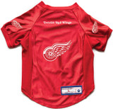 Detroit Red Wings Dog Deluxe Stretch Jersey Big Dog Size