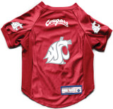 Washington State Cougars Dog Deluxe Stretch Jersey Big Dog Size