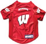 Wisconsin Badgers Dog Deluxe Stretch Jersey Big Dog Size