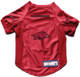 Arkansas Razorbacks Dog Deluxe Stretch Jersey Big Dog Size
