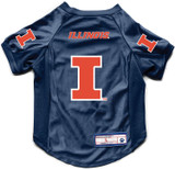 Illinois Fighting Illini Dog Deluxe Stretch Jersey Big Dog Size